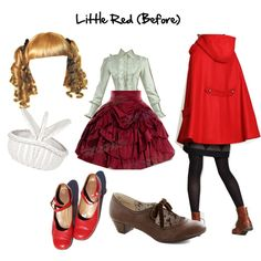"""""""Into the Woods - Little Red (Before)"""" by masterofsporks on Polyvore"""