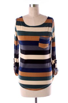 Striped Jersey Top (Multi)  Snag it up from Kelly's Closet for only $25!   www.facebook.com/raidkellyscloset