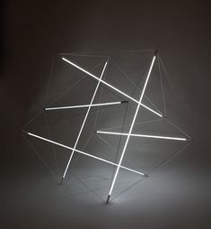 Michal Maciej Bartosik has created two new floating compression lights that are based on two of Kenneth Snelson's sculptures:  'Needle Tower' and 'City Boots'.