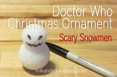 Doctor Who Christmas tree. Loads of DIY ornaments, including the scary snowmen!