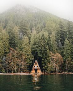 .A-frame on the lake.