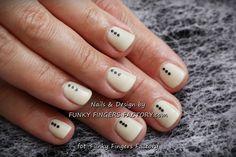 Gelish nude manicure with delicate glitter dots www.funkyfingersfactory.com