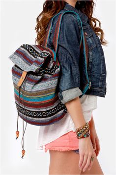 Give It All You Guatemala Tribal Print Backpack