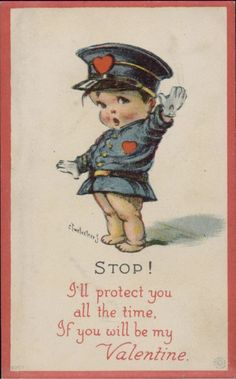 """Charles Twelvetrees was an American postcard illustrator, and drew a comic strip about a duck called Johnny Quack"""" for the New York Hera. Valentine Images, Vintage Valentine Cards, Vintage Greeting Cards, Valentine Day Cards, Valentines For Boys, My Funny Valentine, Kewpie, Vintage Pictures, Vintage Images"""