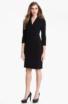 Alex & Ava Pleated Faux Wrap Dress | Nordstrom