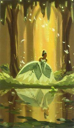 Tiana in the bayou, illustration, Disney's The Princess and the Frog Disney Pixar, Walt Disney, Disney Nerd, Disney And Dreamworks, Disney Girls, Disney Animation, Disney Magic, Disney Movies, Tiana Disney