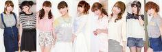 Love Live! Seiyuus: Emi Nitta(Honoka), Sora Tokui(Nico), Riho Iida(Rin), Mimori Suzuko(Umi), Aina Kusuda(Nozomi),Pile(Maki), Aya Uchida(Kotori), Yoshino Nanjo(Eli) and Yurika Kubo(Hanayo)