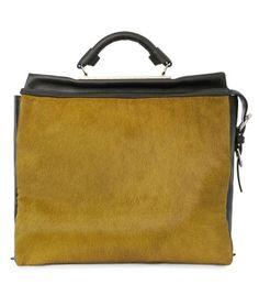 3.1 Phillip Lim Ryder Satchel - Olive Fur Bag - ShopBAZAAR