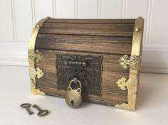 Treasure Chest, Treasure Box, Pirate Chest, party favor 6×4×4, Custom Engraved