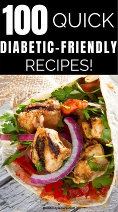 Are you looking for diabetic recipes? Well if you are we've got 100 of them! These are quick, delicious diabetic meals that are low carb and which you can make in under 30 minutes! Check out these 100 recipes for type 2 diabetics! #diabetes #diabeticrecipes #diabeticmeals #diabeticdietplan Diabetic Chicken Recipes, Easy Diabetic Meals, Diabetic Food List, Diabetic Breakfast Recipes, Healthy Recipes For Diabetics, Diabetic Meal Plan, Diabetic Friendly, Diet Recipes, Cooking For Diabetics