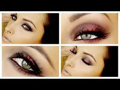 ▶ Cranberry Smokey Eye Makeup Tutorial ♡ - YouTube