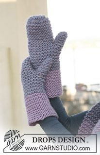 Click Link Here >>   http://garnstudio.com/lang/us/pattern.php?id=4803=us  Knit Mittens on Straight needles in garter stitch