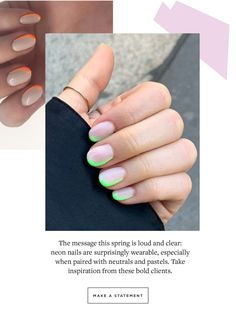 New Neon Nails - Paintbox NYC - beauty bar - Dark Nails, Neon Nails, Makeup Tips, Hair Makeup, Makeup Hacks, Paintbox Nails, Beauty Nails, Hair Beauty, Painted Boxes