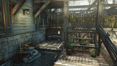 Post with 49 votes and 3278 views. Shared by LeveyMathway. Base Building, Building Ideas, Fallout 4 Settlement Ideas, Survival Tips, Apocalypse, Scene, Patio, Country, Outdoor Decor