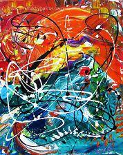 "16 x 20"" Original Acrylic Abstract Painting Modern Wall Art..."