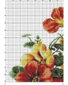 Counted Cross Stitch Patterns, Cross Stitch Designs, Beautiful Flower Designs, Cross Stitch Flowers, Sewing, Knitting, Instagram, Poppies, Cross Stitch Embroidery