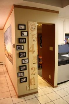 Ruler Growth Chart For The Home ~ measure kids/grands/friends heights  {take it with you when you move!!} Adventures in Decorating & Design: Ruler Growth Chart