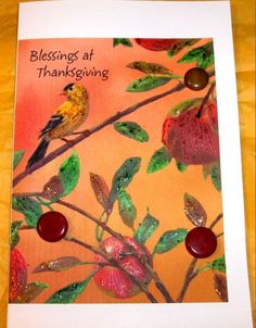 THANKSGIVING CARD Handmade Blessings by SouthamptonCreations, $2.00