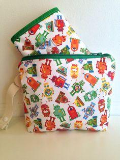 Waterproof Diaper Clutch Set Waterproof Wet Bag by LilTotWonder, $50.00