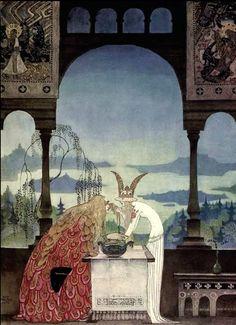 The strange world of Kay Rasmus Nielsen. A forerunner to Roger Dean? Danish, 1886-1957.