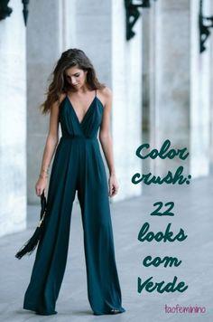 Que tal uma pitada de cor pra variar o pretinho básico do Outono-Inverno? Nós (e as blogueiras mais pinadas do Pinterest) elegemos o verde!d