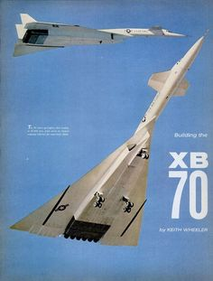 The was a supersonic deep penetration bomber invented and developed by NASA. Only two were built and one was destroyed in a mid air collision. Only one remains. The program was scrapped for a cheaper alternative. Bomber Plane, Jet Plane, Military Jets, Military Aircraft, Fighter Aircraft, Fighter Jets, Strategic Air Command, Experimental Aircraft, Aircraft Design
