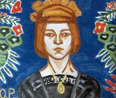 1886-1918 Olga Rozanova. Pintora  Autoretrato, 1912/15