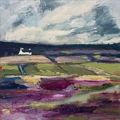 ''Patchwork Fields'' By Louise O'Hara Abstract Landscape, Landscape Paintings, Naive Art, Detail Art, Textile Artists, Dot Painting, Fabric Art, Mixed Media Art, Altered Art