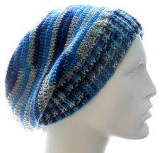 CROCHET PATTERN: The Sock-Yarn Ribby Slouchy Hat Pattern for