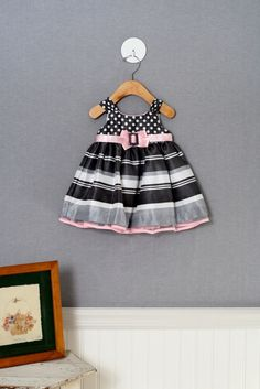 Girls' 6 mo. Special Occasion dress from Bonnie Baby. Love the mixed prints
