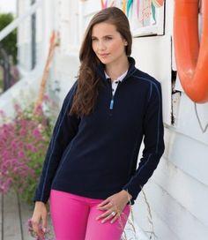 full-collection - FR853 - Front Row Ladies Zip Neck Micro Fleece