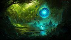 Concept Art : Manaforge by Gycinn on DeviantArt Fantasy Forest, High Fantasy, Fantasy World, Landscape Model, Fantasy Landscape, Landscape Art, Landscape Tattoo, Alien Planet, Fantasy Places
