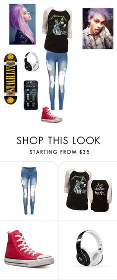 """""""Untitled #122"""" by maya-03-b on Polyvore featuring Converse, Beats by Dr. Dre and Deathwish"""