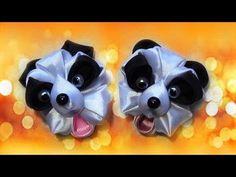 Поделки для детей своими руками.Зверюшки для детей.Поделка панда из лент. - YouTube