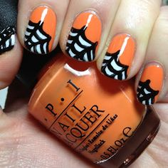 The Nail Trail: Halloween Nail Art Day 1: Spider Webs