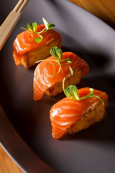 Sashimi Salmon with Crispy Sushi Rice. Photo by Francesco Tonelli.