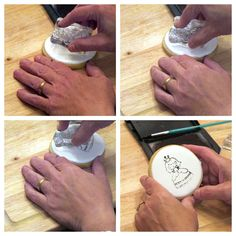 stamping cookies