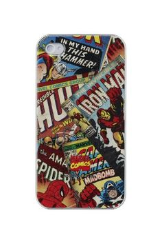 Anymode Marvel Comics Avengers Comics Hard Case for Apple iPhone 4/4S:Amazon:Cell Phones & Accessories