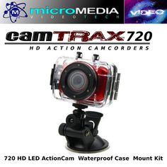 CamTRAX Action Sports Camc 720HD Waterproof Case Mount Kit Bundle Compare GoPro #CamTRAX