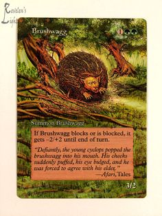 BRUSHWAGG OF JOY - Extended MTG Alter - Revelen's Light Altered Art Magic Card #WizardsoftheCoast