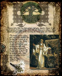 Book of Shadows: #BOS Druid Celtic Pagan Digital Pages Clipart, by CauldronCraftOdditys, 2013.