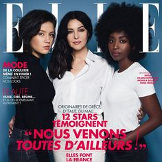 Adèle Exarchopoulos, Monica Bellucci and Inna Modja for Elle France November 24, 2016
