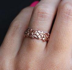 Rose Gold & Silver Flower Ring