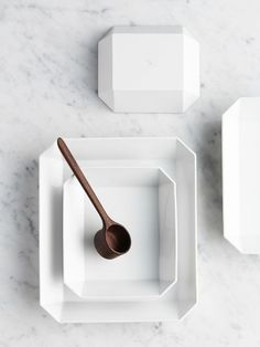 White square plates - Arita Japan / / Interior * Minimalism by LEUCHTEND GRAU