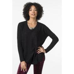 Black knit loose fit sweater #saywhat! #pintowin #ardeneholiday