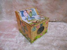 Peça em MDF - decoração em textura e decoupagem, totalmente impermeabilizado