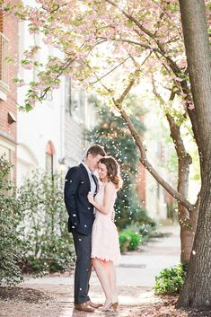 white dress engagement (or blush, as the case may be)