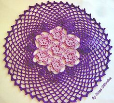 https://flic.kr/p/7ieqWF | Toalhinha dois tons de lilás