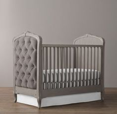 Restoration Hardware - Colette Tufted Crib $1,099 - $1,149  // so pretty!!
