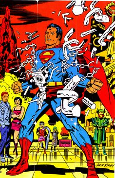 Mattel Superman Comic Game from one of six such games, half of which were drawn by Jack Kirby. Comic Book Artists, Comic Book Characters, Comic Artist, Comic Character, Comic Books Art, Marvel Dc, Marvel Comics, Thor, Superman Comic
